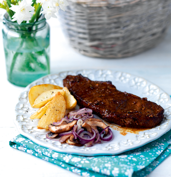 Caramelised Balsamic Steaks