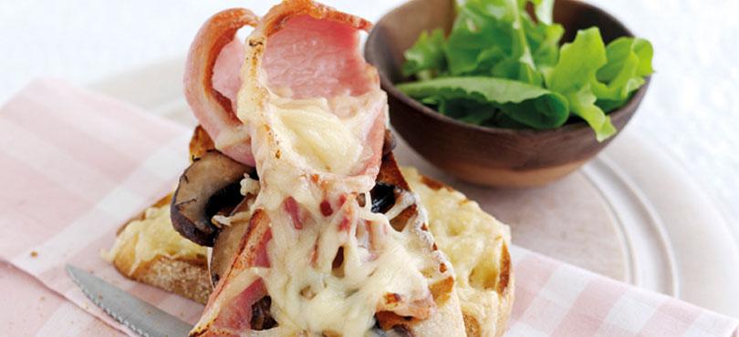 Bacon, Gruyere And Mushroom Melt