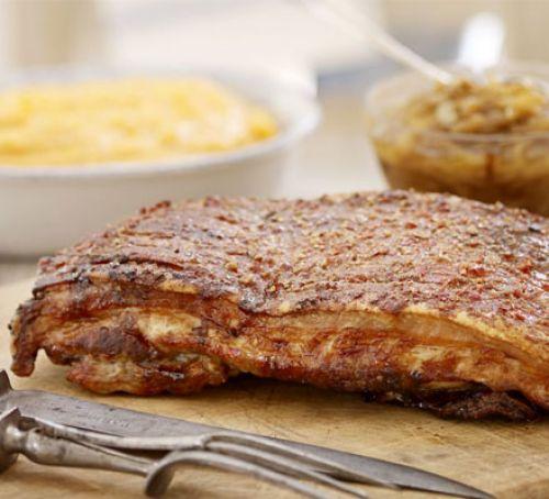 Sticky slow-roast belly of pork