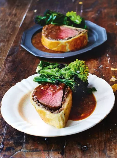 Beef Wellington with Madeira Gravy